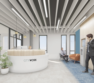 Le 360 - visite de chantier coworking City Work Lyon
